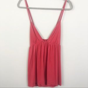 Free People | Deep V Red Cross Back Tank
